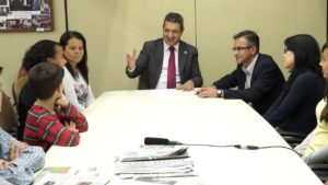 RICARDO IZAR RECEBE OS VEREADORES MIRINS DE PIRATININGA