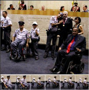 Ricardo Izar participa de homenagem a policiais militares deficientes físicos