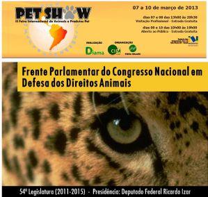Frente Parlamentar em Defesa dos Direitos Animais na PET SHOW 2013