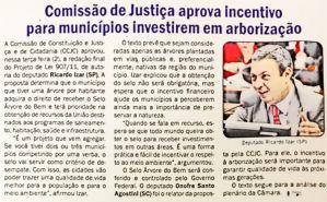 Projeto de Lei de autoria do Dep. Ricardo Izar Jr é aprovado na Comissão de Constituição, Justiça e Cidadania