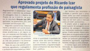 Aprovado PL de Izar que regulamenta profissão de paisagista