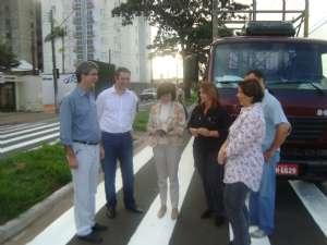Dep. Ricardo Izar acompanha vistoria para instalação de semáforo em frente escola de Rio Claro