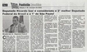 Deputado Federal Ricardo Izar é considerado o 2° melhor Deputado do Brasil!