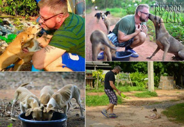 A incrível história do homem que alimenta dezenas de cães abandonados