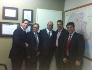 Ricardo Izar recebe visita do advogado Dr. Ricardo Sayeg