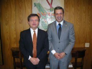 Dep. Ricardo Izar participa de audiência com o Ministro do Superior Tribunal da Justiça, Herman Benjamin