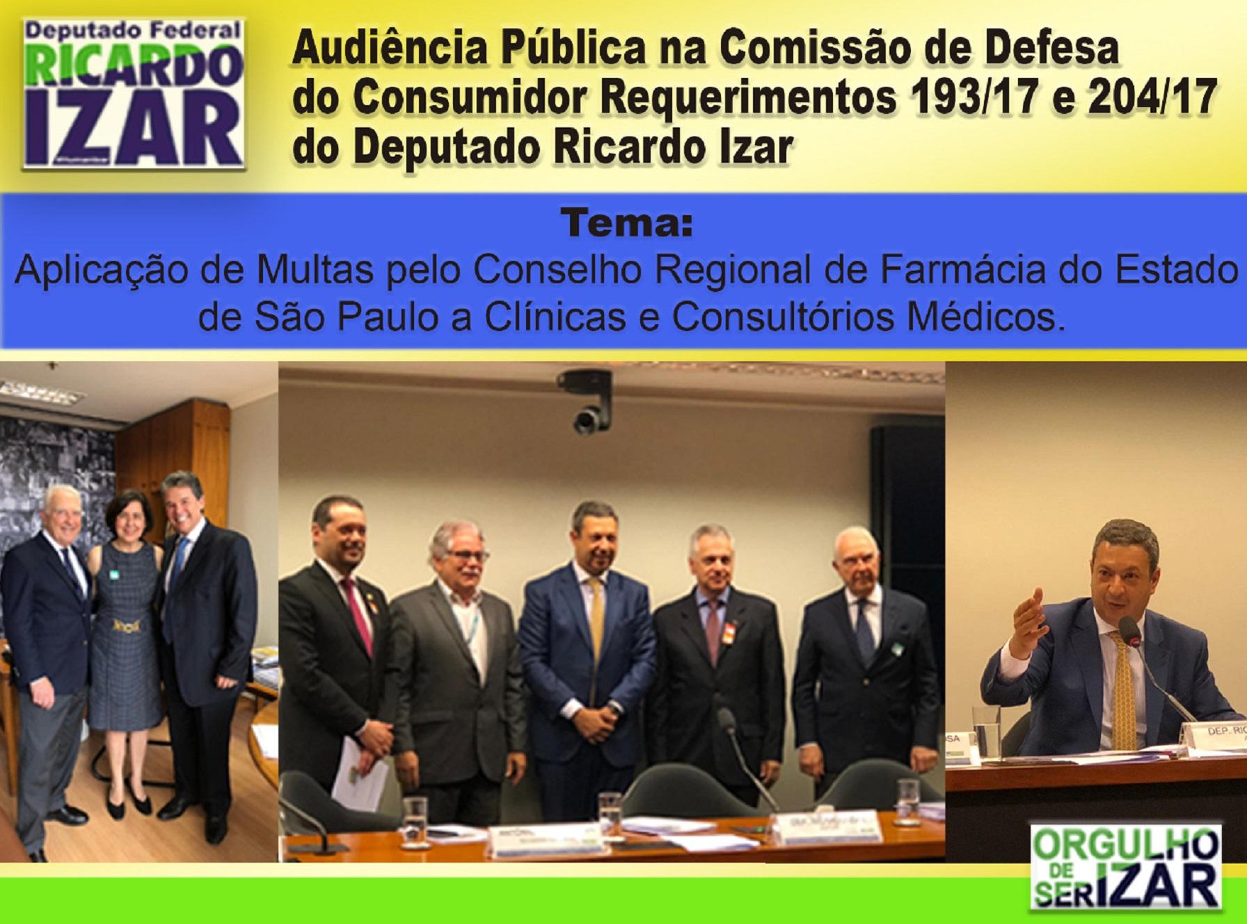 Audiência Pública para aplicação de multas pelo Conselho Regional de farmácia do Estado de São Paulo