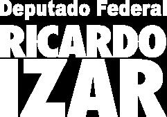 Vertical Branco - Eu voto no Ricardo Izar