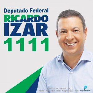 Para deputado Federal, vote Ricardo Izar 1111